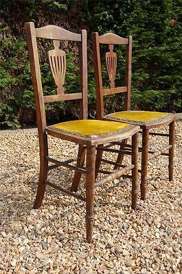 Pair of Antique Victorian Ladies Chairs - Maybe Older? - Restoration Project