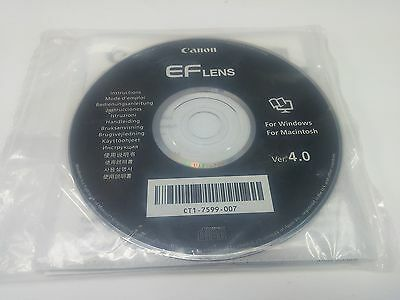 Canon EF Lns Instruction Manual and CD Rom Version 4.0 for Windows and Macintosh