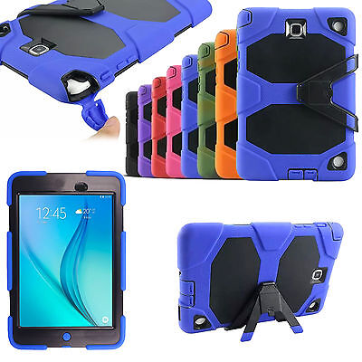 """Shockproof Hybrid Builder Stand Tablet Case For Samsung Galaxy Tab E 9.6"""" T560"""