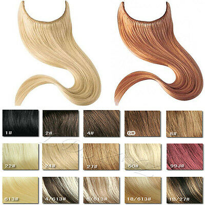"""Invisible 100% Human Hair Remy Extension Wire Elastic In Extensions 16"""" 18inch"""