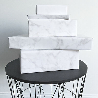 Marble WRAPPING PAPER Gift Wrap Luxury White Gloss 15 Metre Roll 70cm Wide NEW