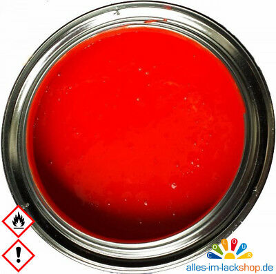 Ral 3024  Leuchtrot  Leuchtfarbe  Neonfarbe Tagesleuchtfarbe inkl. Härter 1,15kg
