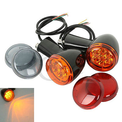 LED Rear Turn Signal Light w/ 3 Color Lens For Harley Sportster XL883 1200 92-Up