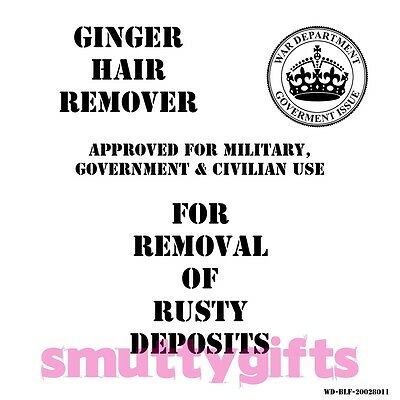 Ginger Hair Remover ~ Military Style ~ Adult Novelty Birthday Gift
