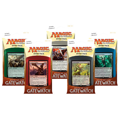 MAGIC THE GATHERING MTG Oath Of The Gatewatch INTRO SET ALL 5 PACKS TRADING GAME