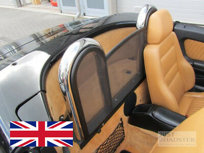 Alfa Romeo Spider 916 Wind Deflector 1995-2006 Mesh Black Roll Bars not included