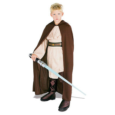 Childs Boys Official Disney Star Wars Jedi Robe Fancy Dress Party Costume