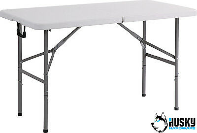 HUSKY 4ft Folding Plastic Table Banquet Trestle BBQ DIY Camping Picnic Catering