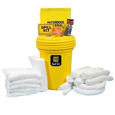 30 Gallon Oil Only Spill Kit, Pro Grade, 75 Pieces: Pads, Pillows, & Socks