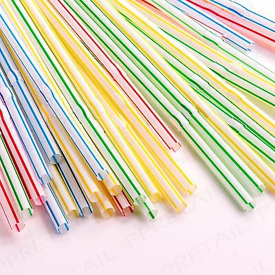 40 x Bendable Drinking Straws FLEXIBLE Assorted Colour Birthday Garden Party