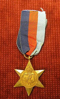 British Wwii  Medal The Star 1939 -1945