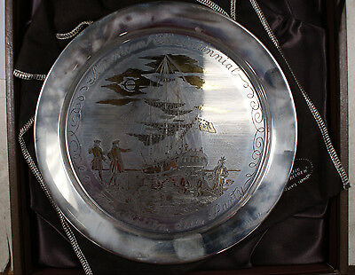 Danbury Mint Sterling Silver 24K Gold Plate Boston Tea Party 1773 Bicentennial