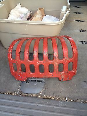 "Early 16 3/4"" Red Cast Iron Vertical Drain Grate"