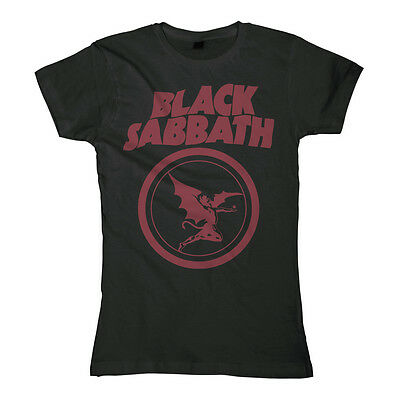 BLACK SABBATH  Fallen Angel Logo  Girlie Girl Damen Woman Shirt - Größe Size XXL