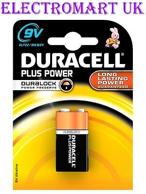 1 X Duracell Mn1604 Plus Power 9V Pp3  Battery Smoke Alarm