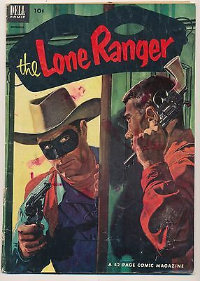 LONE RANGER No. 54, 1952 Painted cover - Dell Western