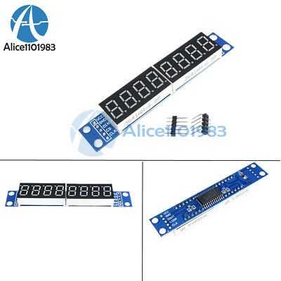MAX7219 LED Dot Matrix 8-Digit Digital Tube Display Control Module For Arduino