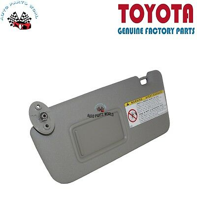 Genuine Toyota 04-05 Rav4 Gray Driver Sunvisor Without Light 74320-42420-B0