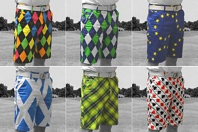 2016 ROYAL & AWESOME FUNKY PANTALONCINI DA GOLF IN TUTTI I COLORI Forte e Trendy