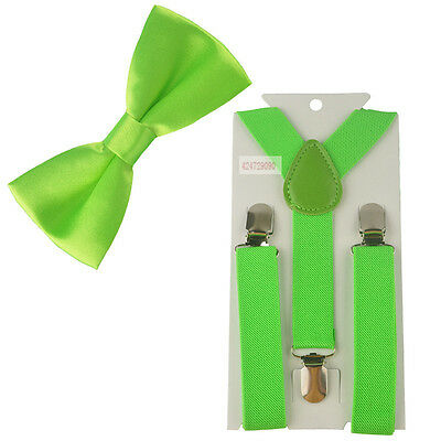 PARTY Suspenders Bowtie Bow Tie Matching Braces Baby Boys Child Kids YHHtr0003