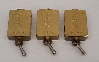 Clippard MJTV-4 4-Way Toggle Valve, ENP Steel, 3 pack Lot, Made in the USA