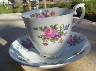 Pretty Vintage Crown Staffordshire Cup & Saucer