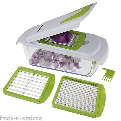 Freshware Onion Chopper Vegetable Slicer Fruit And Cheese Cutter Utensils New!