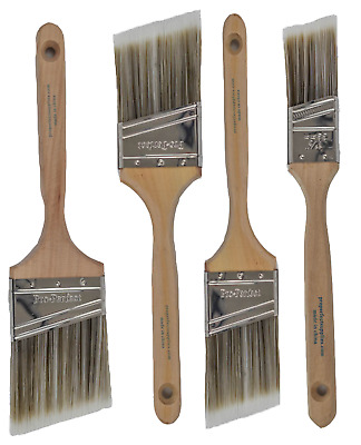 "4 Pack PRO PERFECT PAINT BRUSH LOT.1-1/2"", 2"" & 3"" Angle Sash"