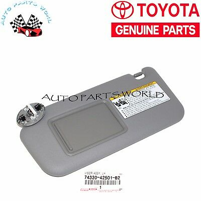 Genuine Toyota 06-09 Rav4 Lh Driver Gray Sun Visor Vanity Light 74320-42501-B2