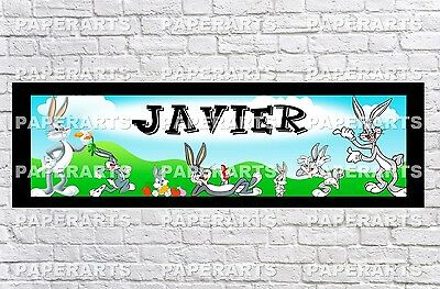 Personalized Hello Kitty Name Poster with Border Mat Custom Banner Art Decor