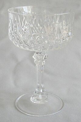 Champagne / Tall Sherbet Cristal D'Arques Crystal Longchamp Pattern