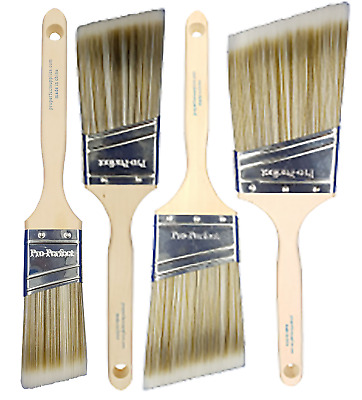 "4 Pack PRO PERFECT PAINT BRUSH LOT.1-1/2"", 2"", 2-1/2"" & 3"" Angle Sash"