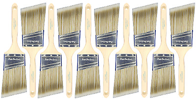 "10 PACK 2-1/2"" Angle Sash PRO-PERFECT PAINT BRUSH LOT"