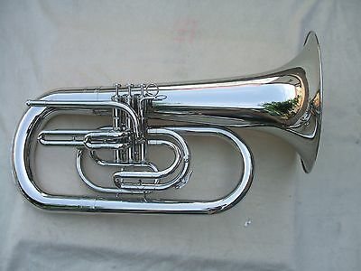advanced Marching Euphonium horn kit Nickel plated body Bb key case etc new  .