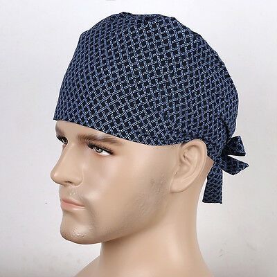 Men Doctors Nurse Medical Surgery Surgical Cap Skull Scrub Cap Netting Print Hat