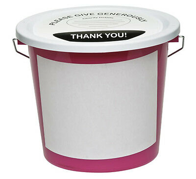 2 Front Labels For Charity Fundraising Collection Buckets - Brand New