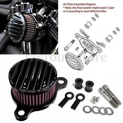 Air Cleaner Intake Filter System Kit for Harley sportster XL883 XL1200 1988-UP