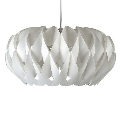 Contemporary White Pleated Ceiling Pendant Light Shade Lampshade Home Lighting
