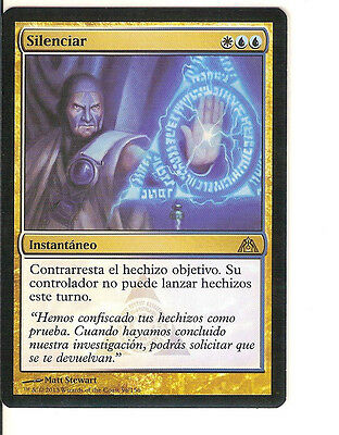 mtg Magic 1x Render Silent ( Silenciar ) Dragon's Maze Spanish EXCELLENT+