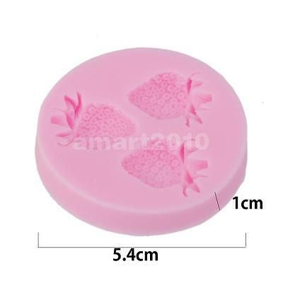 Strawberry Shape Silicone Mold Fondant Cake Decorating Pastry Soap Mould