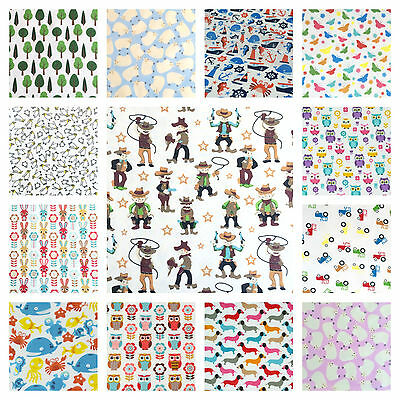 Childrens Themed Prints, polycotton fabrics, sold per half metre FREE P&P