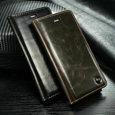 Luxury PU Leather Wallet Card Holder Flip Case Cover For Samsung Galaxy Phone