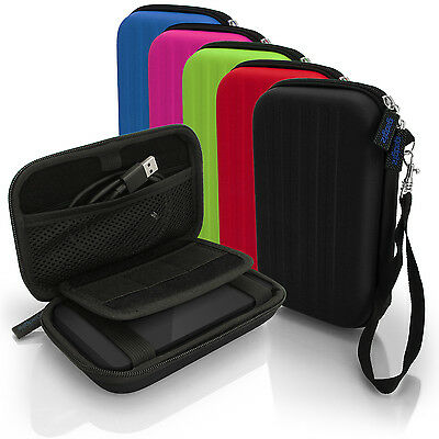 Hard Case Cover Pouch for Portable External Hard Drives (160 x 93.5 x 21.5mm)