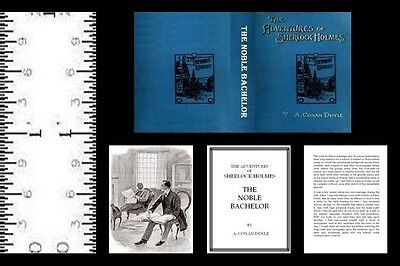1:12 Scale Miniature Book  The Noble Bachelor Illustrated Sherlock Holmes