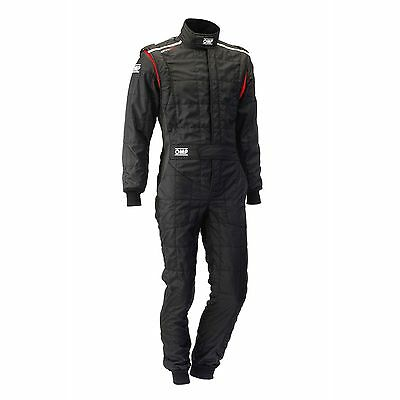OMP One S Lightweight Race/Racing/Rally Suit - FIA Approved - Black - Size 60
