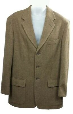 Le Collezioni Structure Brown Tweed Blazer Sportcoat Mens M 44R  ITALY Wool
