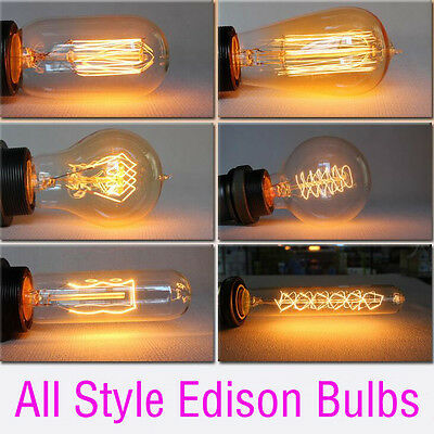 E27 60W 40W Vintage Antique Retro Style Lighting Filament Edison Lamp Light Bulb