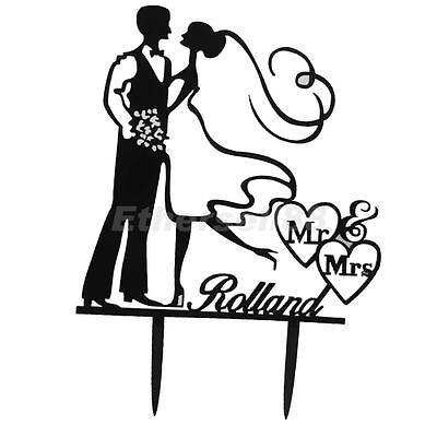 Silhouette Bride and Groom Mr & Mrs Wedding Cake Topper Anniversary Favors