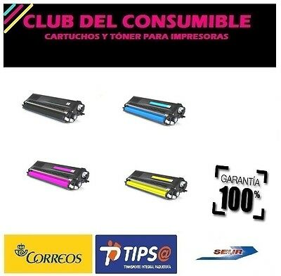 4 X Brother Tn900 Bk Cy Mg Yl Cartucho De Toner Generico No Oem