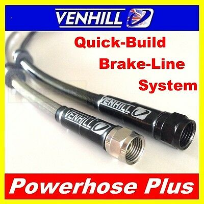 100mm to 800mm Custom Stainless steel braided Powerhose Plus brake lines VENHILL